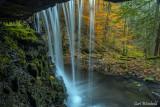 Behind the falls at Bear Run