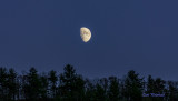 Moonrise;  Slate Run, Pa.