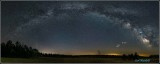 Milkyway with planets panorama