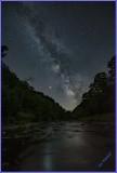Milkyway glows over  Pine creek