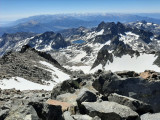Summit view from Mt Ritter (13143ft, 4006m)