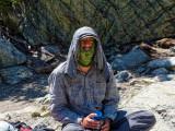 Fighting sun & bugs at Minaret Lake