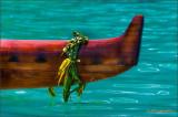 Koa Canoe With Ti Lei