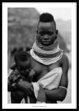 Dassanech women and her baby, Ethiopia 2020