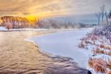 Misty Rideau River Clouded Sunrise P1060863-69