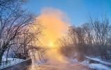 Misty Old Slys Rapids At Sunrise P1390017-23