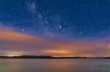 Meteor, Jupiter, & Clouded Milky Way P1390478
