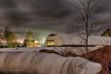 Bales & Barn At Night P1400006-12