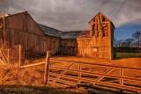 Barn & Gate At Night P1390935-41
