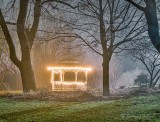 Gazebo On A Foggy Night P1390744-9