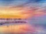 Foggy Sunrise At Otter Creek P1400464-6