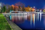 Docked Le Boat Canadian Fleet At Night P1400575-81