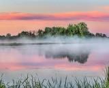 Misty Otter Creek At Sunrise P1410634-8