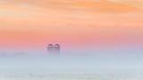 Silos In Ground Fog At Sunrise P1410734