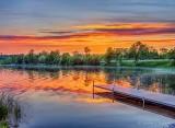 Otter Lake Dock At Sunrise DSCN34801-6
