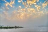 Clouded Foggy Sunrise P1420183