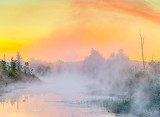 Misty Irish Creek At Sunrise P1420428-32