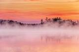 Misty Otter Lake At Sunrise P1420573-9