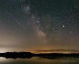 Milky Way, Meteors & Jupiter Over Irish Creek P1430923-6