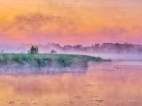 Misty Otter Creek At Sunrise P1440003-5