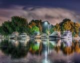 Victoria Park Marina At Night P1440451-7