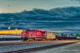 Waiting Train At Sunrise P1440556-62