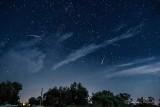 Three Meteors & Wispy Clouds P1440598,07,13