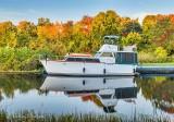 Docked Boat At Sunrise P1460312-8