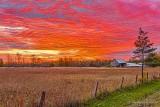 Barn In Fiery Sunrise P1460354-60
