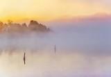Fog On The Rideau Canal At Sunrise P1460522