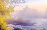 Rideau Canal Visitor Centre In Sunrise Fog P1470351-7