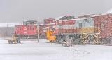 RMEO Rolling Stock In Snowfall P1480446-50