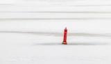 Red Channel Marker In Ice DSCN05826-8