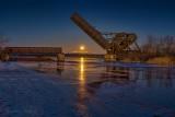 Setting Cold Moon Beyond The Bascule Bridge P1490662-8