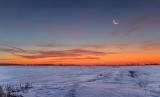 Waning Crescent Moon At Sunrise P1500131-7
