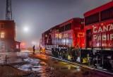 CP Crew Change On A Foggy Night P1500427-33