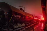 Tanker Train On A Foggy Night P1500462-8