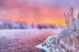 Frosty Misty Rideau River At Sunrise P1500868-74
