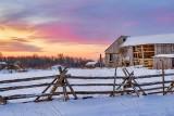 Decaying Barn At Sunrise P1500910