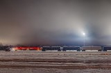 Patchy Night Fog Over The Rail Yard P1510317-23