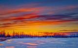 Sunrise At A Frozen Irish Creek P1510394-00