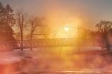 Footbridge In Morning Mist P1510597-03