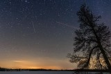 Night Sky With Meteor & Airplane P1510695