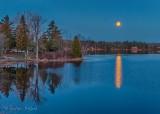 Pink Full Moon Setting Over Otter Lake P1530005-11