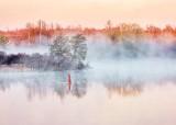 Mist On The Water At Sunrise DSCN14923