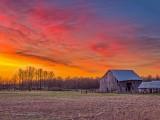 Decaying Barn At Sunrise DSCN17388-90