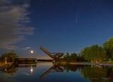 Moon, Bascule Bridge, Comet NEOWISE P1540991