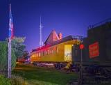 CN Dining Car 4006 At Night P1550476-82