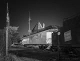 CN Dining Car 4006 At Night P1550476-82BW
