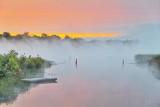 Misty Rideau Canal At Sunrise P1550983